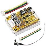 DROK BLDC DC 5-36V Brushless Sensored Motor Control Board Motor Driver Regulator Monitor 350W High Power DC Motor Speed Controller Module with Heat Sink, Control Switch