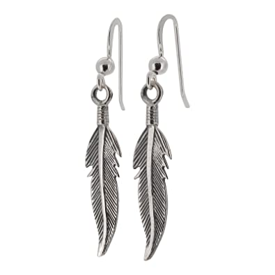 Sterling Silver 925 Feather Design Post Style Stud Earrings by Touch Jewellery
