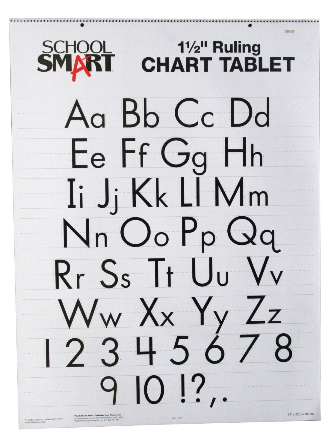 School Smart 85335 Skip-A-Line Chart Tablet - 1 1/2 inch Ruled - 24 x 32 inches - 25 Sheet Pad