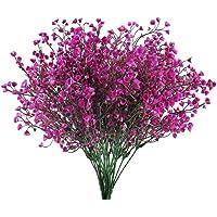 HUAESIN 4pcs Flores Artificiales Decoracion Jarrones Plastico Flor