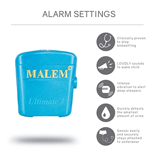 Amazon.com: malem Ultimate Bedwetting enuresis alarma, MO4S2 ...