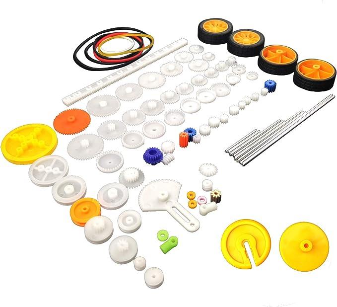 78 Pcs Plastic Gear Set Package Toy car Accessories Motor Various Gear axle Belt bushings