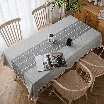 Topmail Nappe de Table Rectangulaire en Coton et Lin Nappe ...
