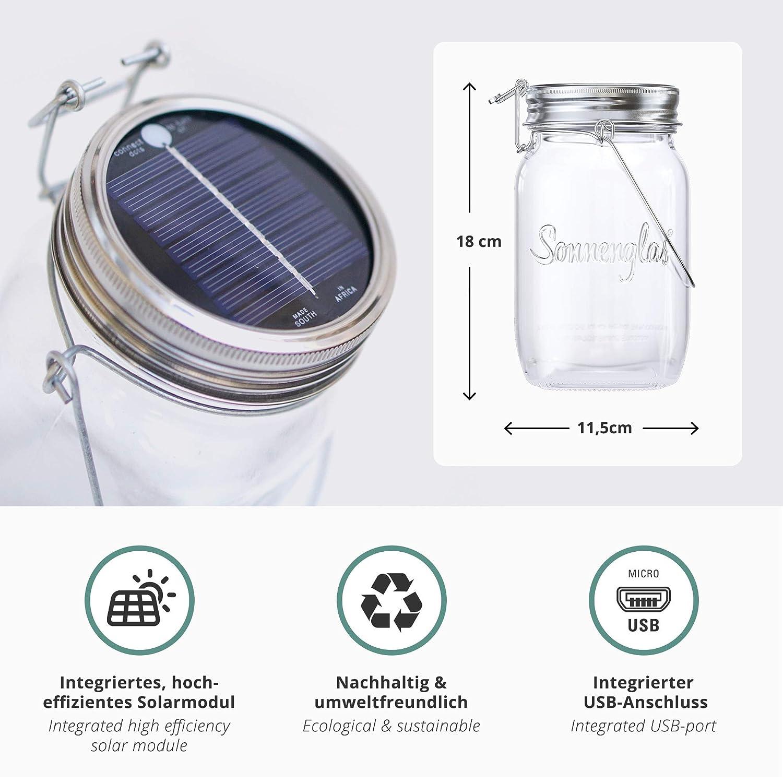 2 Solarlampen Usb Wiederaufladbar Gadgy Solar Laterne Für Außen Glas K Hochwertige Materialien