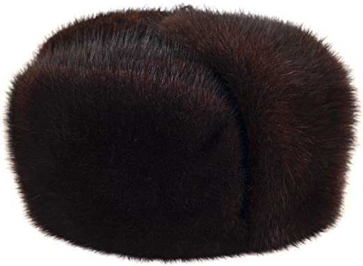 Russian Legacy Brown Muskrat Fur Trooper Winter Hat at Amazon Men s ... 0c2175f37c4b
