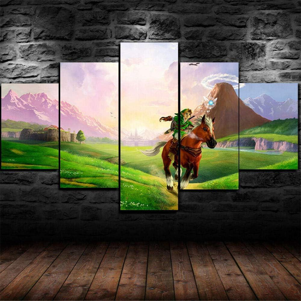 LIVELJ Puzzle-Juegos de Legend of Zelda/Sin Marco/5 Pieza impresión sobre Lienzo artística Pintura Moderno Pared Tejido HD