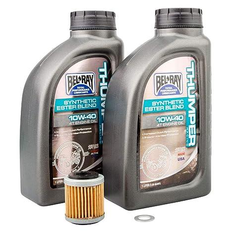 Amazon com: Tusk 4-Stroke Oil Change Kit Bel-Ray Thumper Synthetic