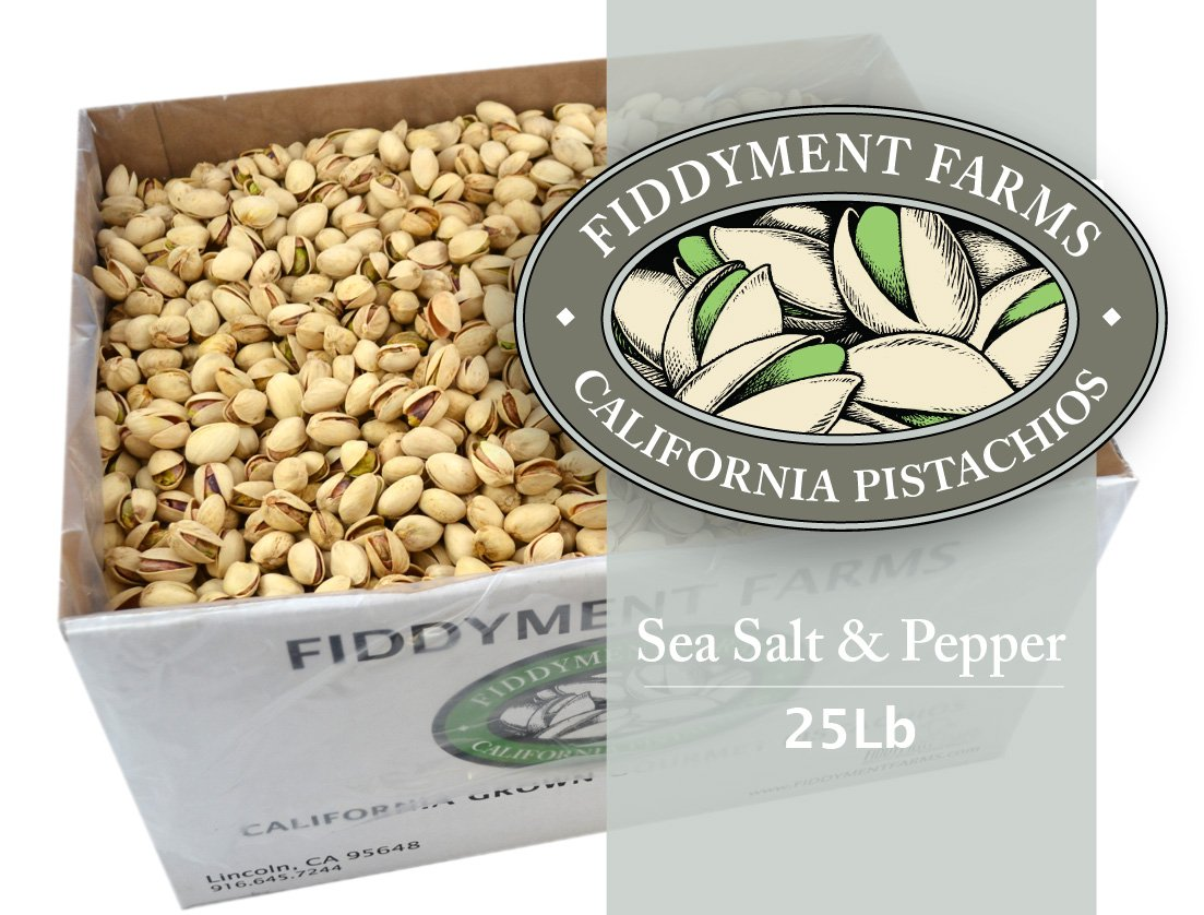 Fiddyment Farms 25 Lbs Sea Salt & Pepper In-shell Pistachios