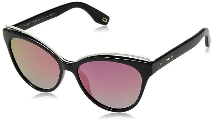 cfddf1f12559 Marc Jacobs Metal Brow Cateye Sunglasses in Black Pink Mirror MARC 301/S  807 55