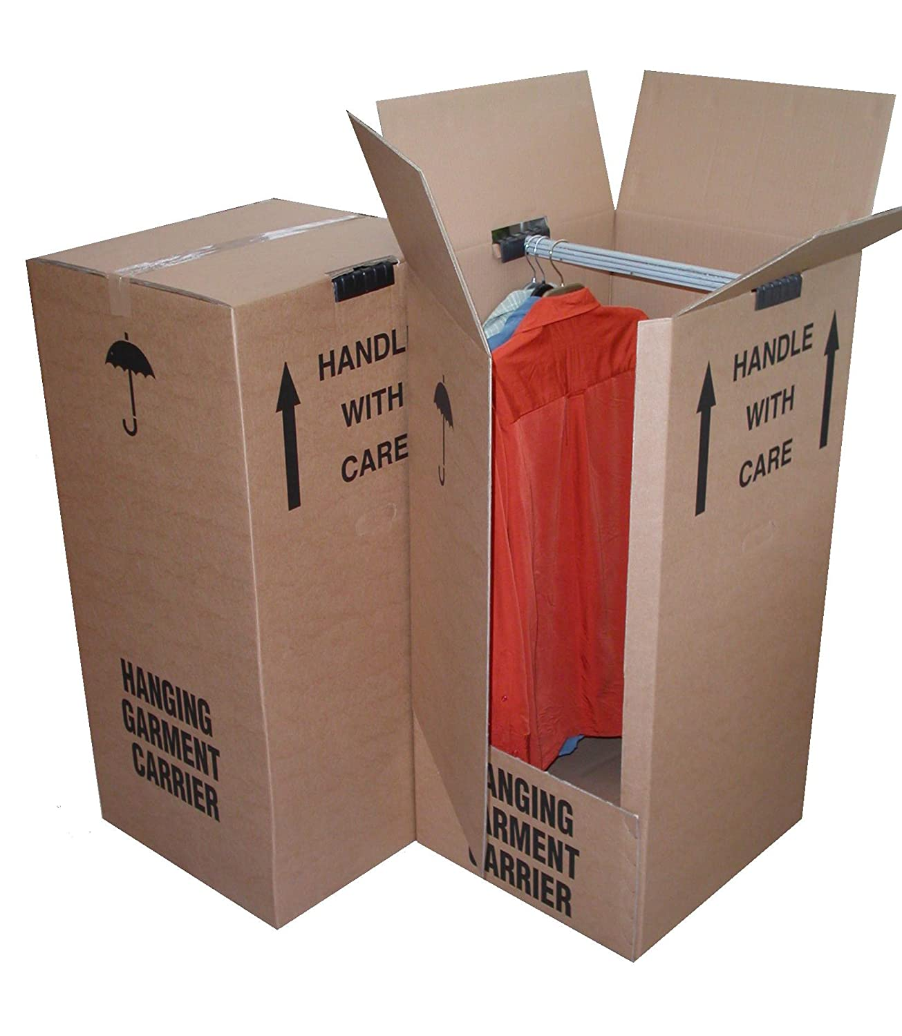 5 x Large Strong Wardrobe/Garment Double Wall Removal Boxes GP Globe Packaging GMTBX