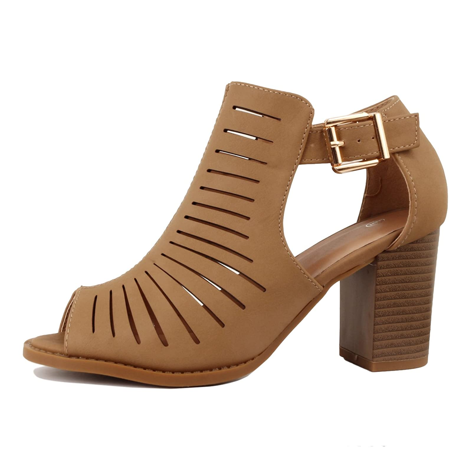 Guilty Heart | Womens Strappy Cut Out Perforated - 1
