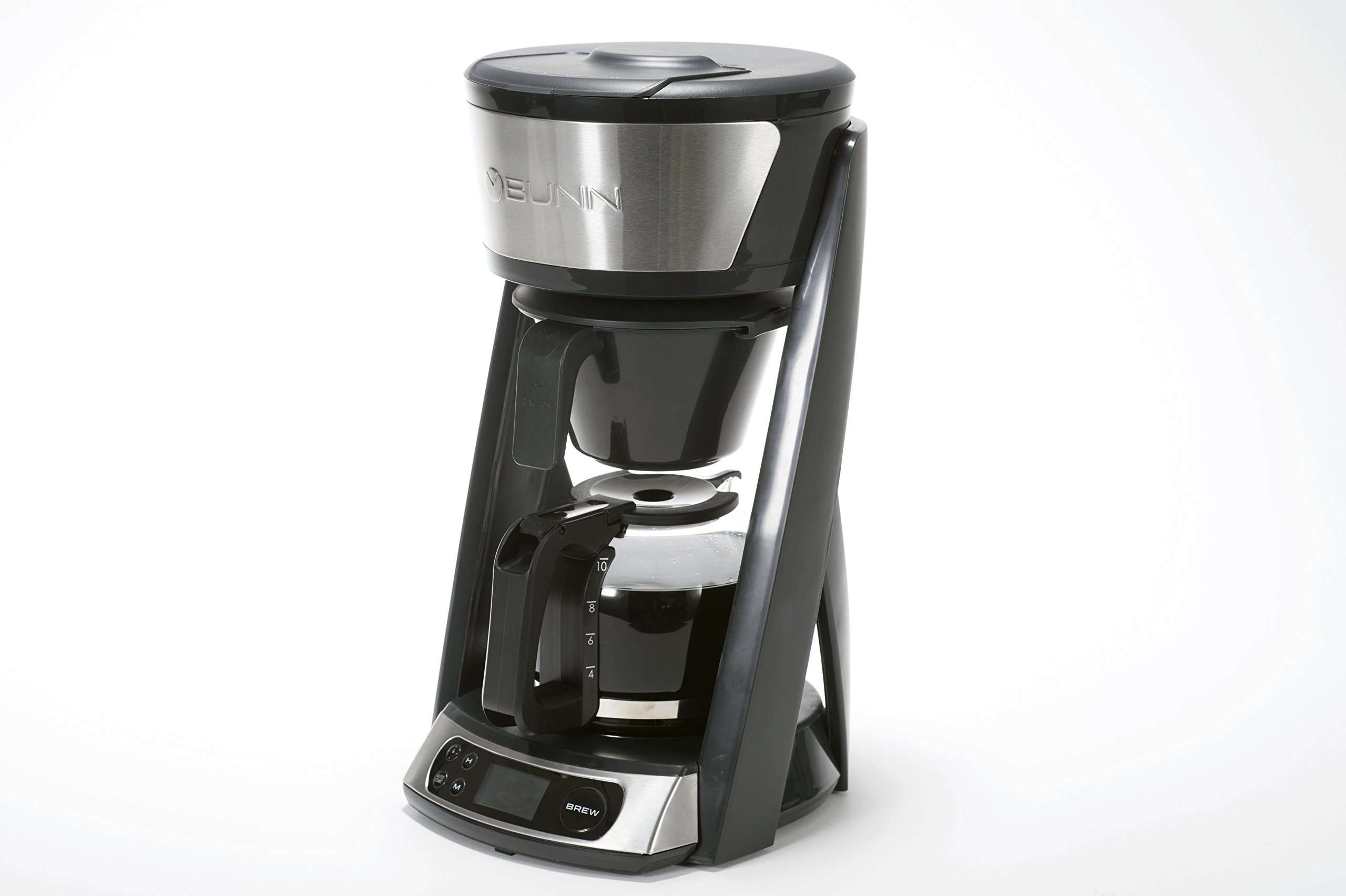 BUNN HB Heat N Brew Programmable Coffee Maker 10 cup Stainless Steel by BUNN (Image #2)