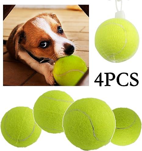 BPS® Pack de Juguetes para Perro, Juguetes Pelotas Tenis para Perros Animales Domésticos Diferente Modelos para Elegir Colores se envian al azar (4pcs 2.5 6.35cm) BPS-4856*4: Amazon.es: Deportes y aire libre