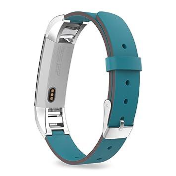 MoKo Fitbit Alta / Alta HR Correa - Reemplazo SmartWatch Band de Reloj Cuero Auténtico Imitado Pulsera Accesorios para Fitbit Alta / Alta HR Smart ...