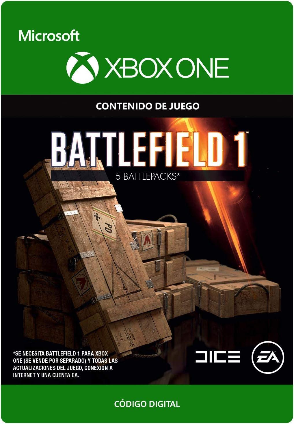 Battlefield 1: Battlepack X 5 | Xbox One - Código de descarga: Amazon.es: Videojuegos