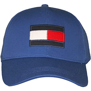 07153e8f Tommy Hilfiger Men's Flag Logo Baseball Cap Blue One Size at Amazon ...
