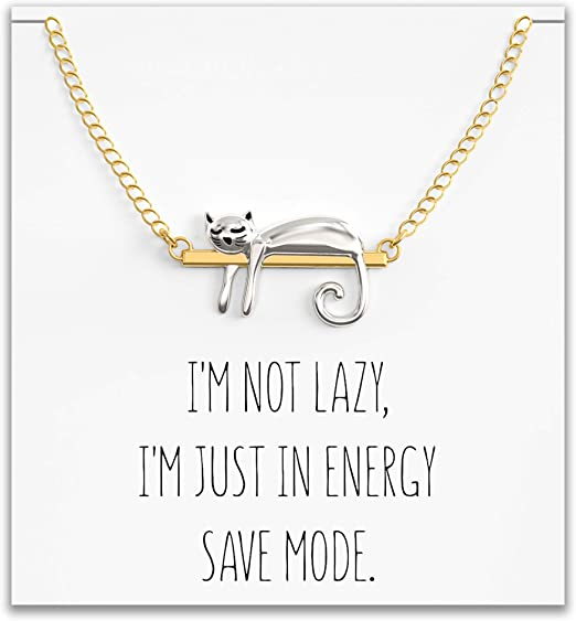 Cat necklace  Cat Jewelry  Crazy Cat Lady Best Friend Gift  Friendship necklace  Sister Gift  Gift for Her