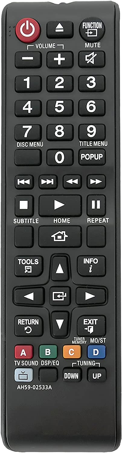 New AH59-02533A Replace Remote fit for Samsung HT-H4530 HT-H5500W-ZA HT-H5530 HT-F4500 HT-H4500 HT-H5500W HT-J4100 HT-J4500 HT-J5500W HT-JM41 HT-J5500/2A Home Theater System
