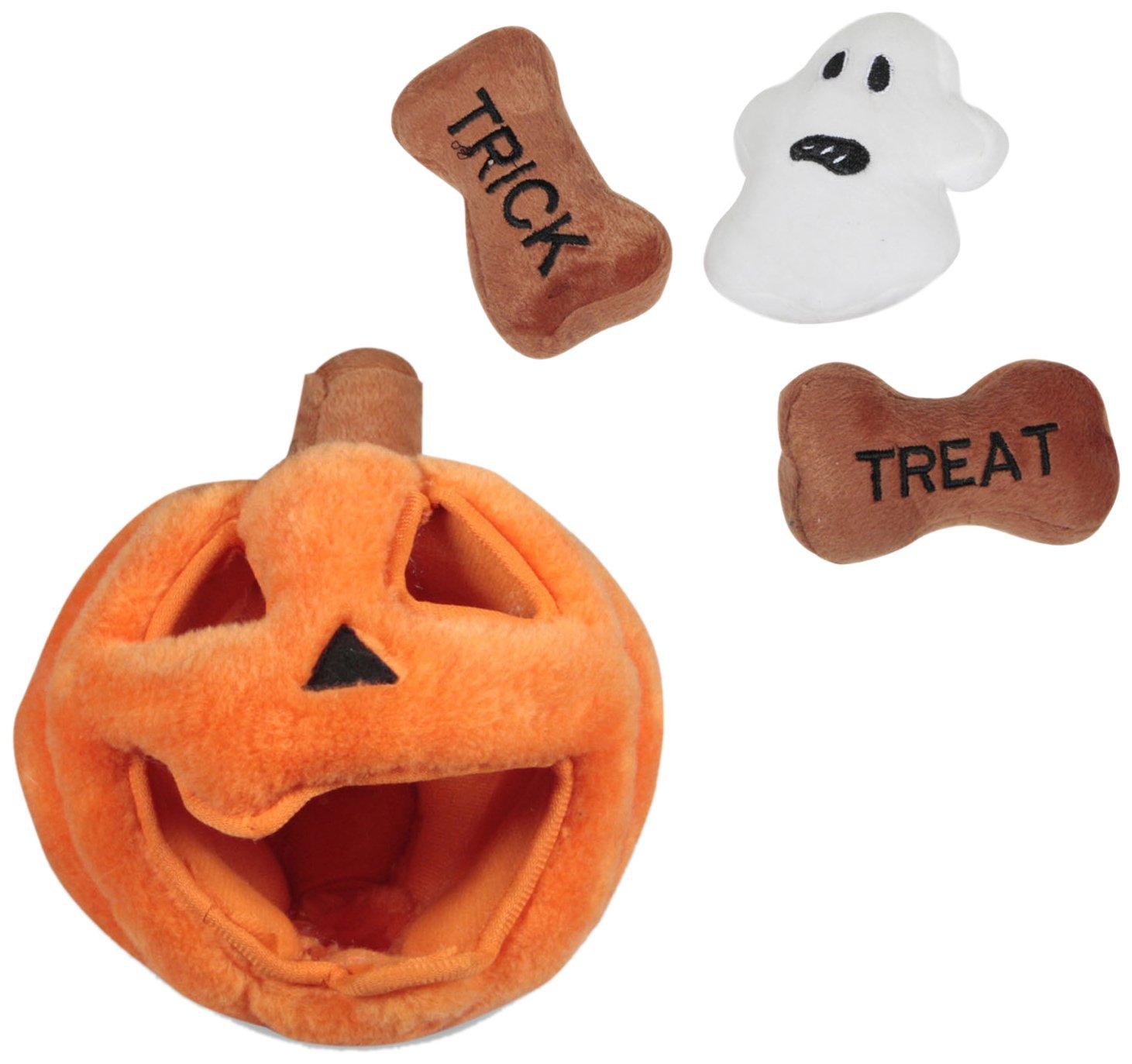 good Outward Hound Kyjen PP Hide A Toy Halloween Pumpkin