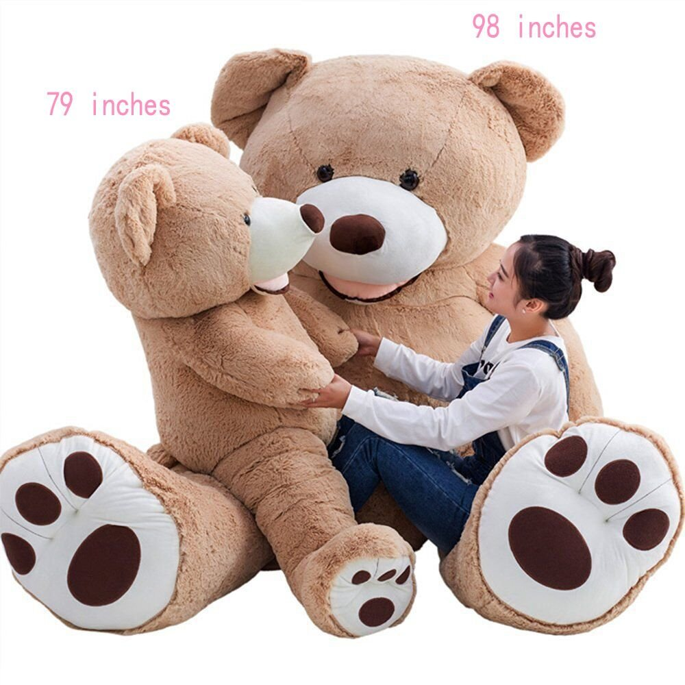 YunNasi Giant Teddy Bear Plush Stuff Animal Toy 98 inch Purple XXL