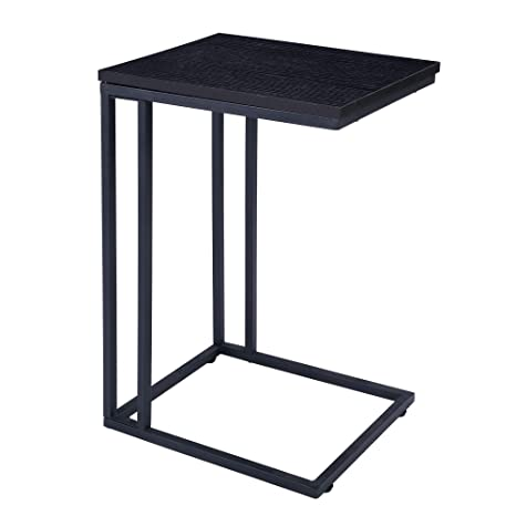 Amazing Fivegiven Brownish Black Couch Side Table For Small Spaces Modern C Table For Living Room 22 4 Inch Ibusinesslaw Wood Chair Design Ideas Ibusinesslaworg