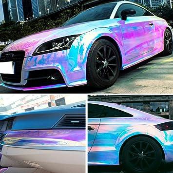 Black holographic Rainbow Neo Chrome CAR Vinyle Wrap Air Bubble Free Sticker Film