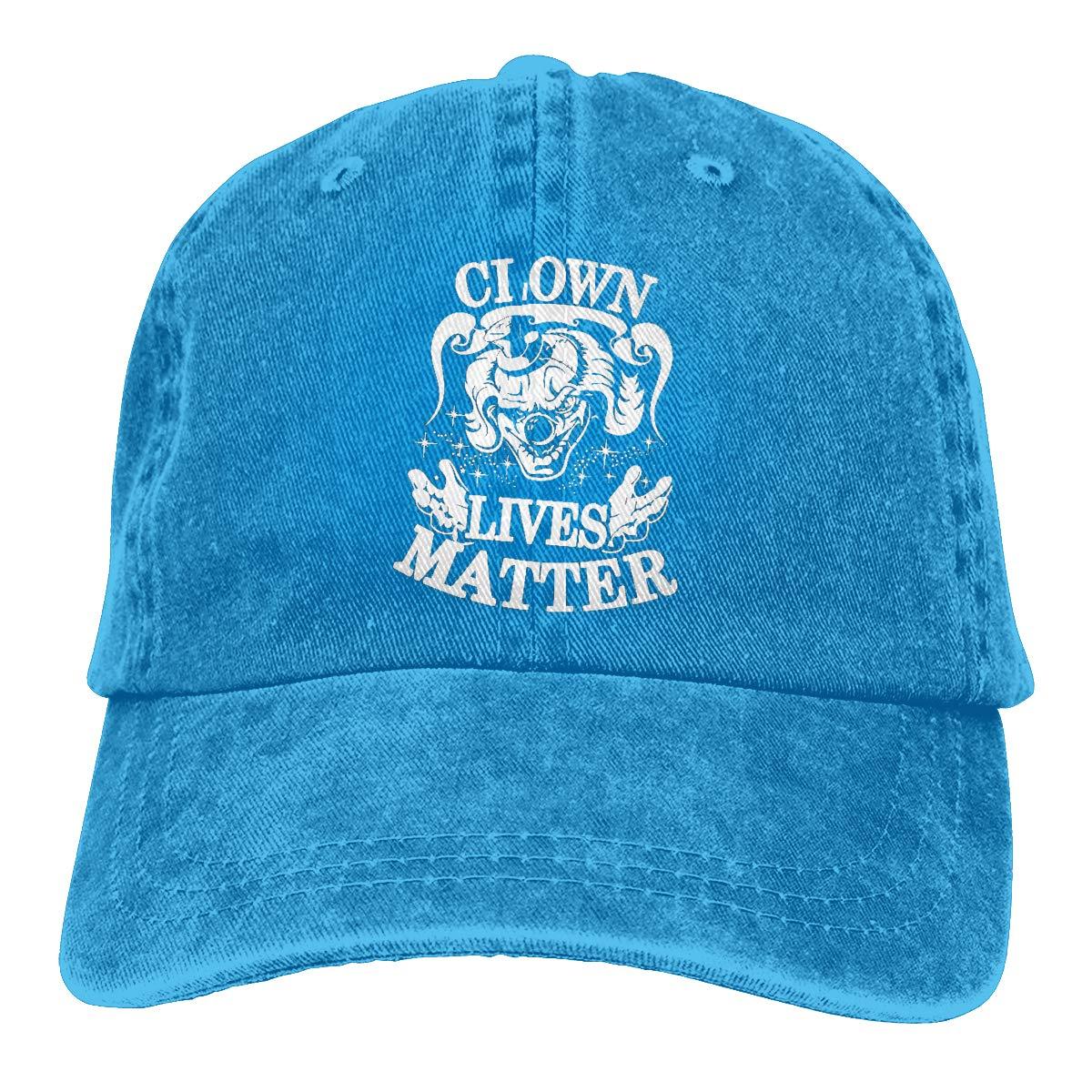 Feeling Unique Clown Vintage Jeans Baseball Cap Classic Cotton Dad Hat Adjustable Plain Cap Black