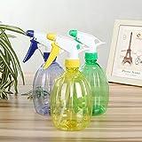 3 Packs Empty Spray Bottles 17oz Plastic Spray Bottle Clean Squirt Bottle Colorful Multi-uses Spray Bottles for Cleaning, Water Flowers