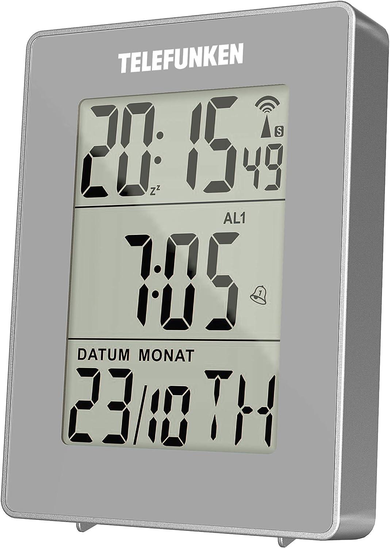 LCD Alarm Uhr Kalender Digitalthermometer Hintergrundbeleuchtung Multi-Funk #SF