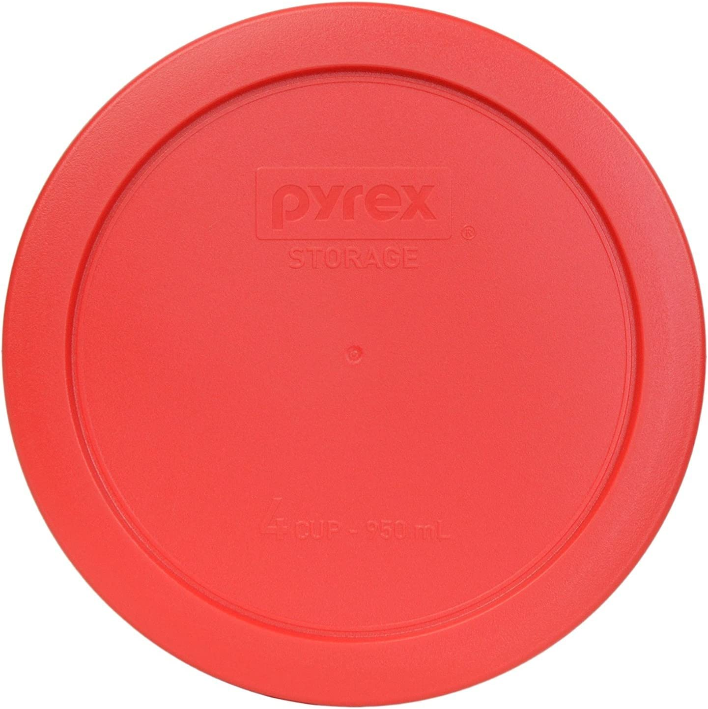 Pyrex 7201-PC Round 4 Cup Storage Lid for Glass Bowls (1, Red)