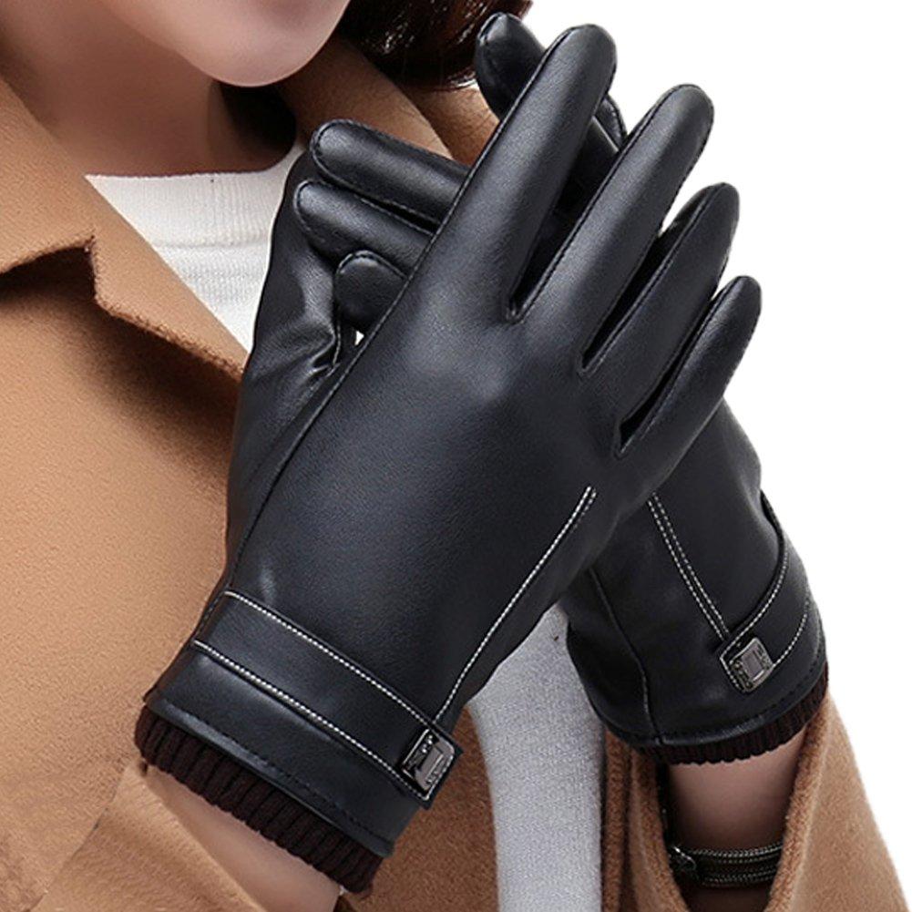 b69d1bb9c1d8 Magic Zone Gants Tactiles Femmes pour Texting Driving, Gants en cuir chauds  dhiver, Doublure
