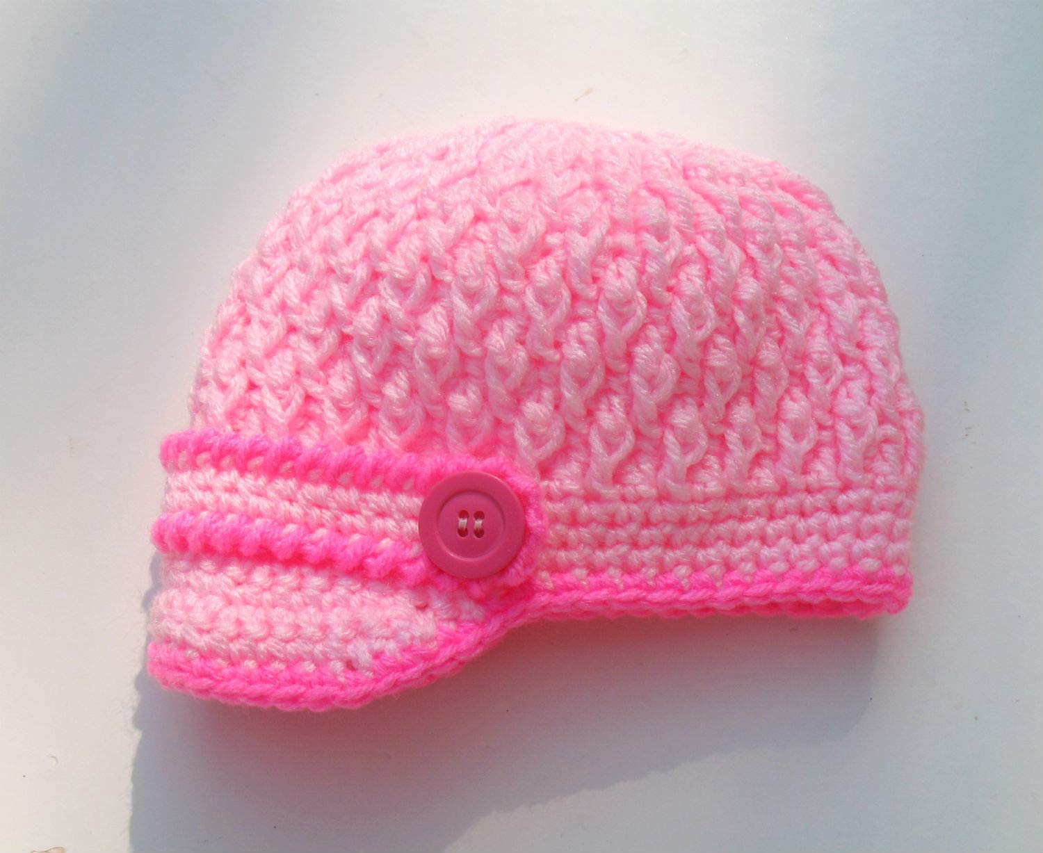 Baby Beanie Size 6 to 9 Months Infant Hat Infant Beanie Hand Crocheted Variegated Pastel Baby Hat Baby Shower Gift