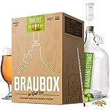 """BRAUBOX """"PALE ALE""""   Bierbrauset zum Bier selber brauen in Deiner Küche   Frische Zutaten, keine Extrakte   Wiederverwendbare Braugeräte   Perfektes Starter-Set"""