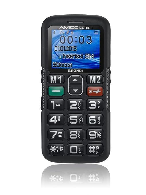 d9f66202ec Brondi Amico Semplice + Telefono Cellulare, Nero: Amazon.it: Elettronica