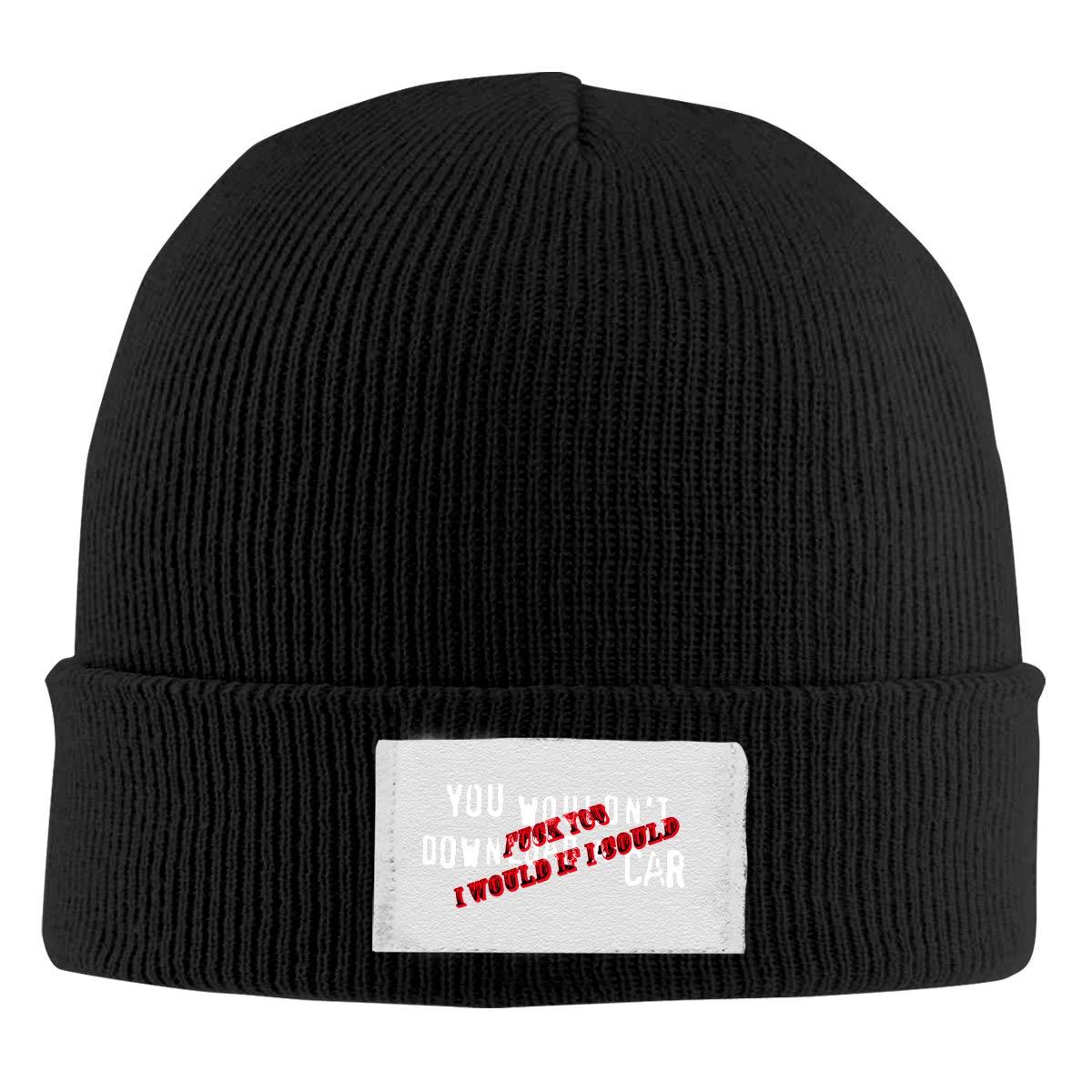 Skull Caps Golden Aries Winter Warm Knit Hats Stretchy Cuff Beanie Hat Black