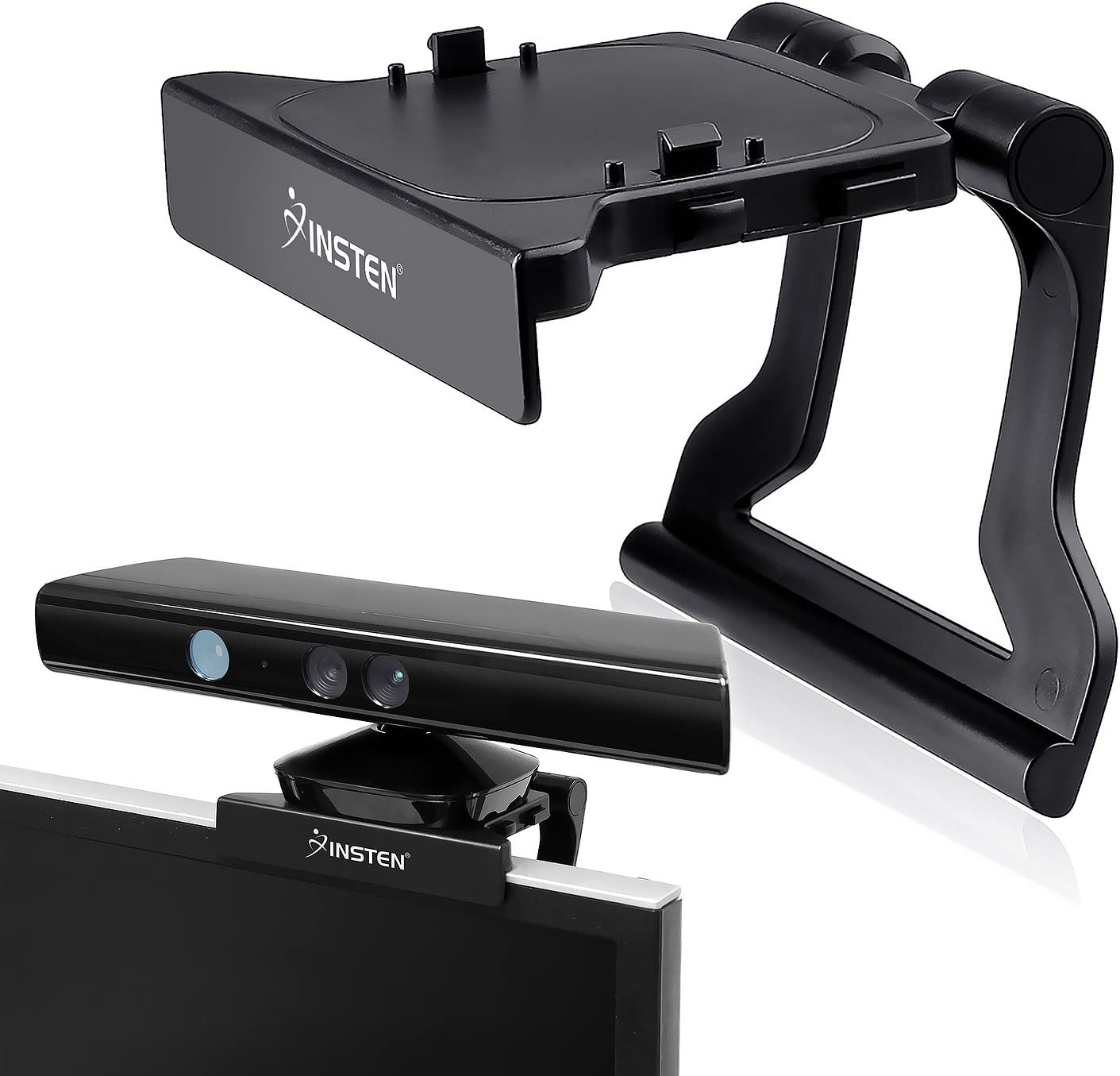 Insten compatible con Microsoft Xbox 360 Kinect Sensor Monte Holder, Negro: Amazon.es: Videojuegos
