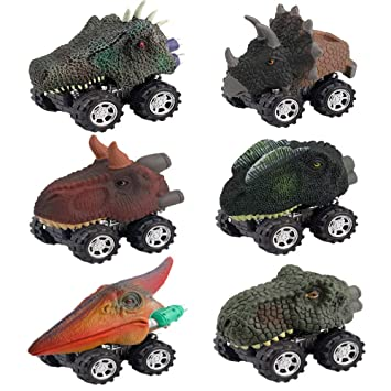 Easony Gifts For 2 6 Year Old Boys Girls Fun Dinosaur Pull Back Vehicles