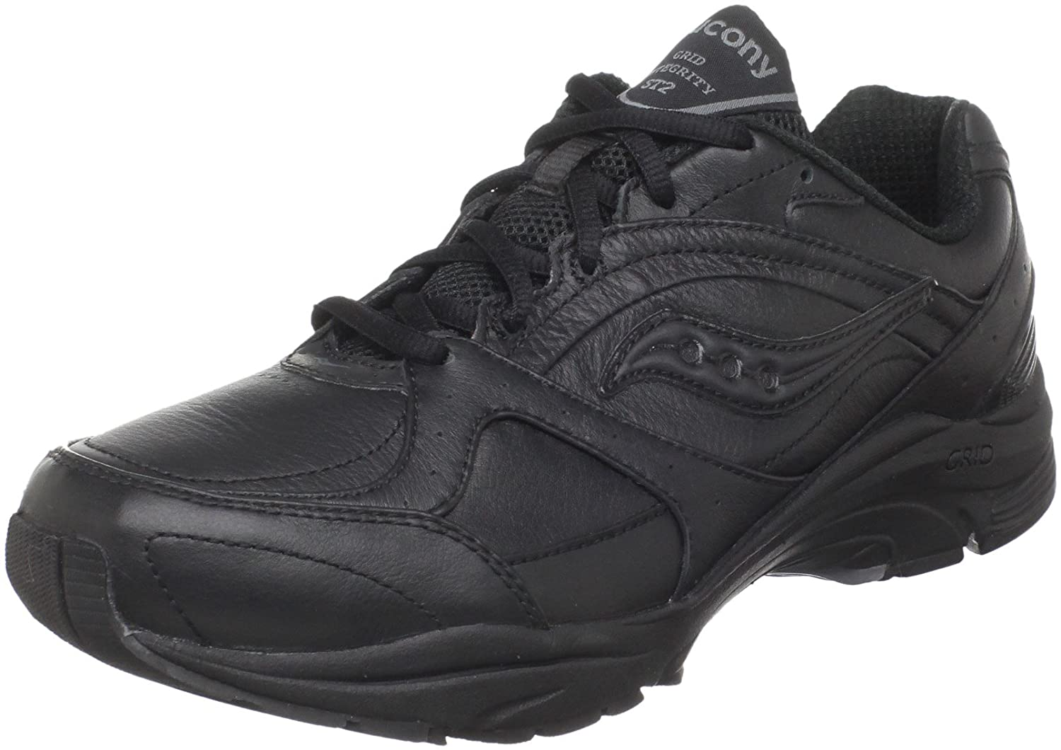 Saucony Women's ProGrid Integrity ST2 Walking Shoe B00413QTNY 7 2A US|Black/Grey