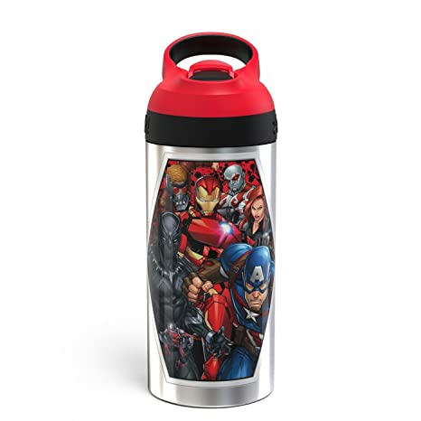 Amazon.com: Marvel - Botella de agua de acero inoxidable ...