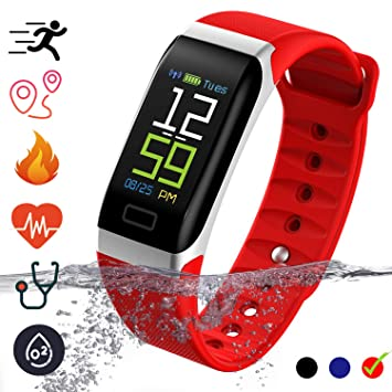 Fitness Tracker Smartwatch - IP68 Waterproof with Pedometer ...