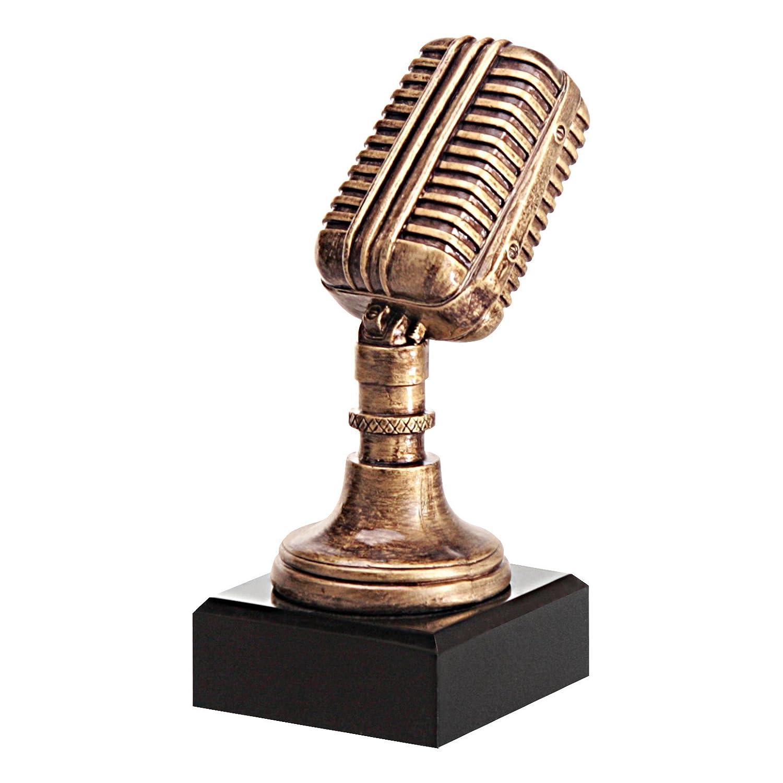 tecnocoppe trofeo micrófono H 17,00cm premiazione Karaoke