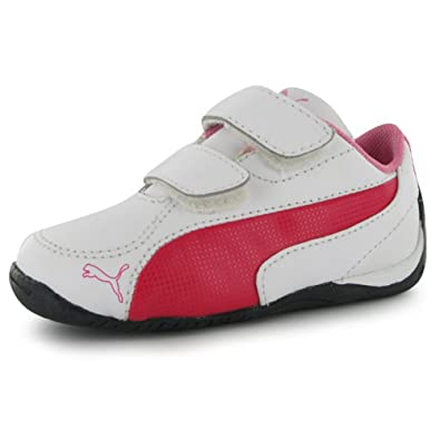 Puma Drift Cat 5 Leather Childrens Trainers White Pink 11 Child UK UK   Amazon.co.uk  Shoes   Bags f7a17b71cd6b