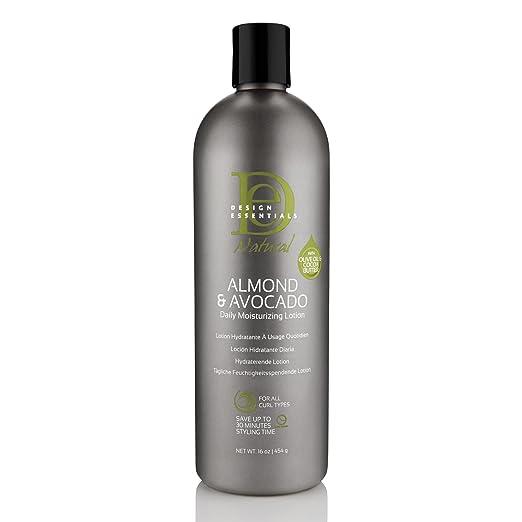 Design Essentials Natural Daily Hair Moisturizing Lotion -Moisture Rich Botanicals, Jojoba & Olive Oils- Almond & Avocado Collection, 16oz.