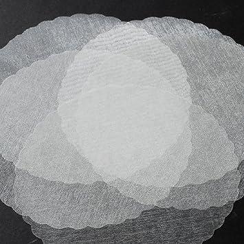 Amazon 9 White Organza Tulle Circle Wrap Scalloped Edges Gift