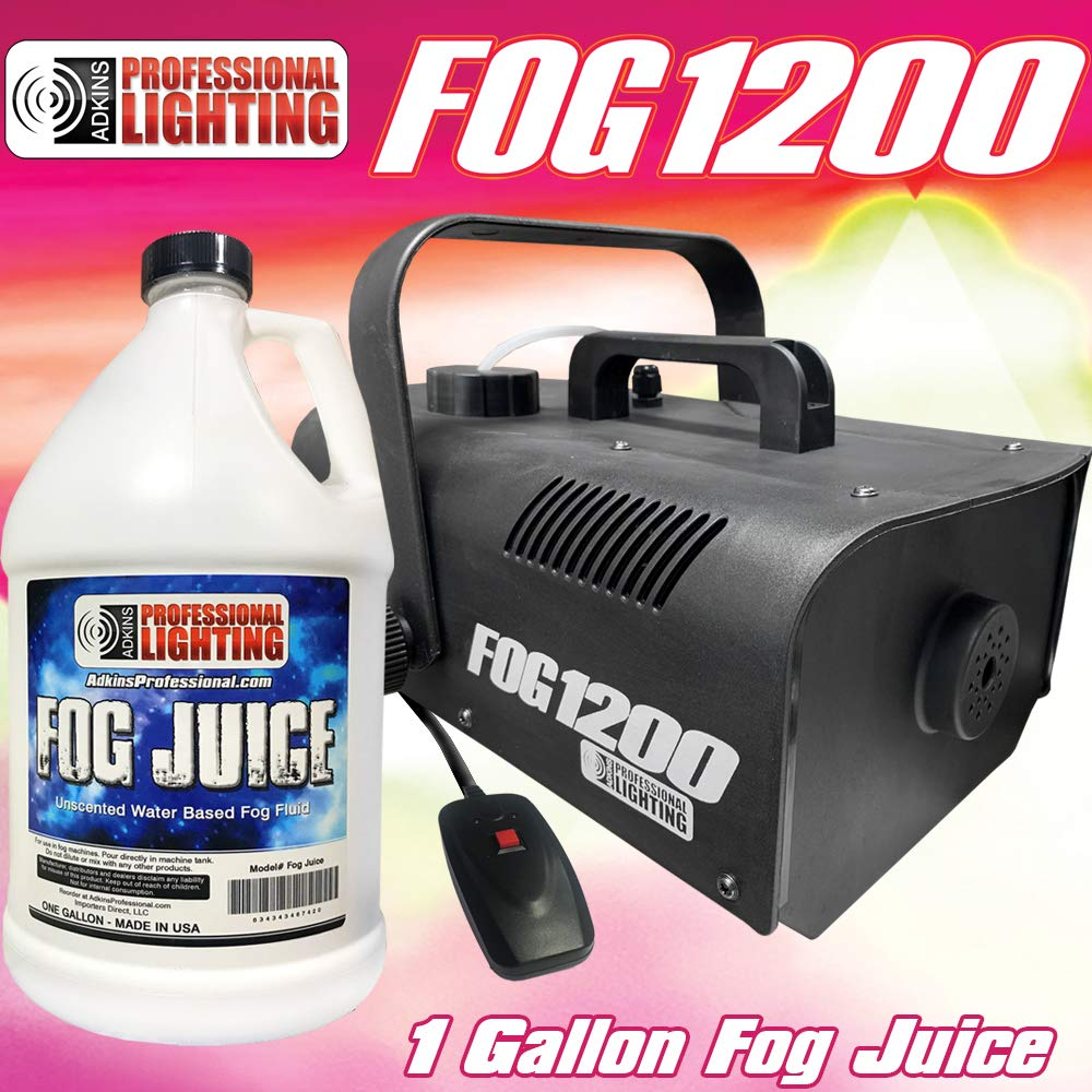 Fog Machine - 1200 Watt W/Remote and One Gallon Fog Juice - Adkins Professional Lighting FOG1200