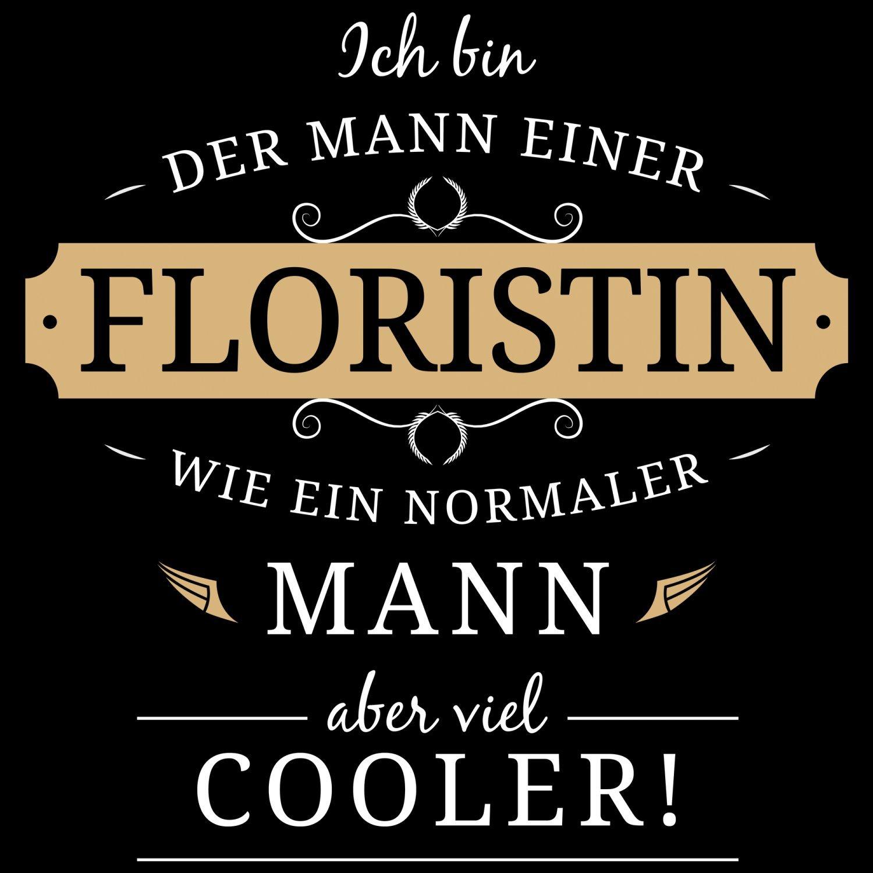Fashionalarm Herren T-Shirt - Mann einer Floristin   Fun Shirt mit Spruch  Geschenk Idee für verheiratete Paare Ehemann Blumen Händlerin Floristik: ...