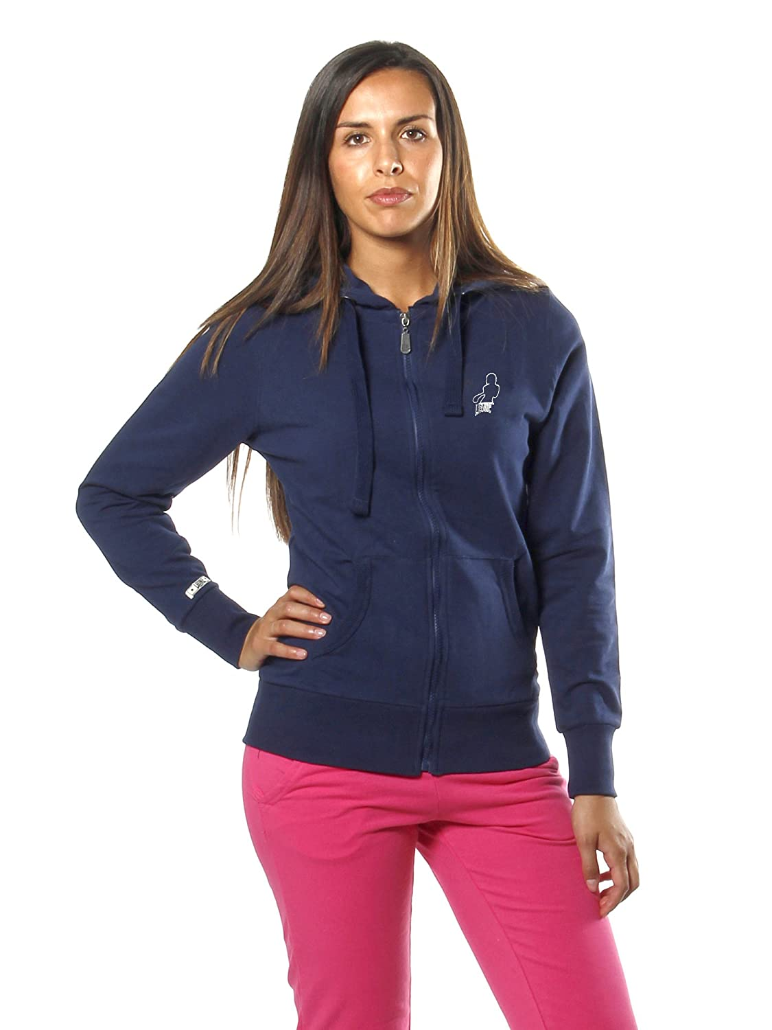 LEONE 1947 APPAREL Sport Fight Activewear Lw850, Felpa con Cappuccio e Zip Donna Banana Blue