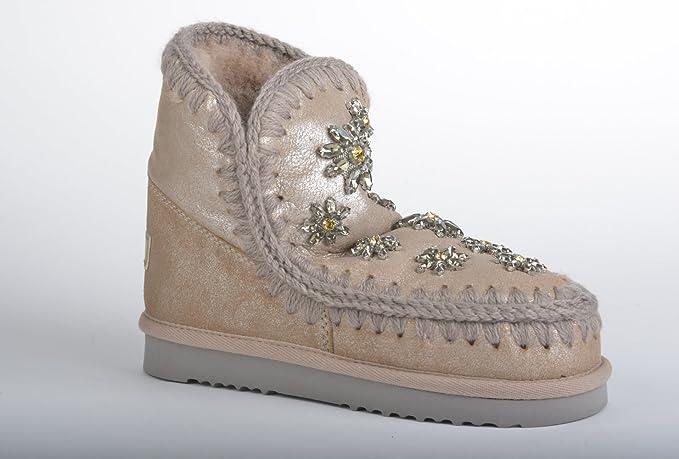 Ducam Crystal Stivaletto Donna Eskimo 18 Scarpe Mou Flowers Ai17 Y6gbyf7v