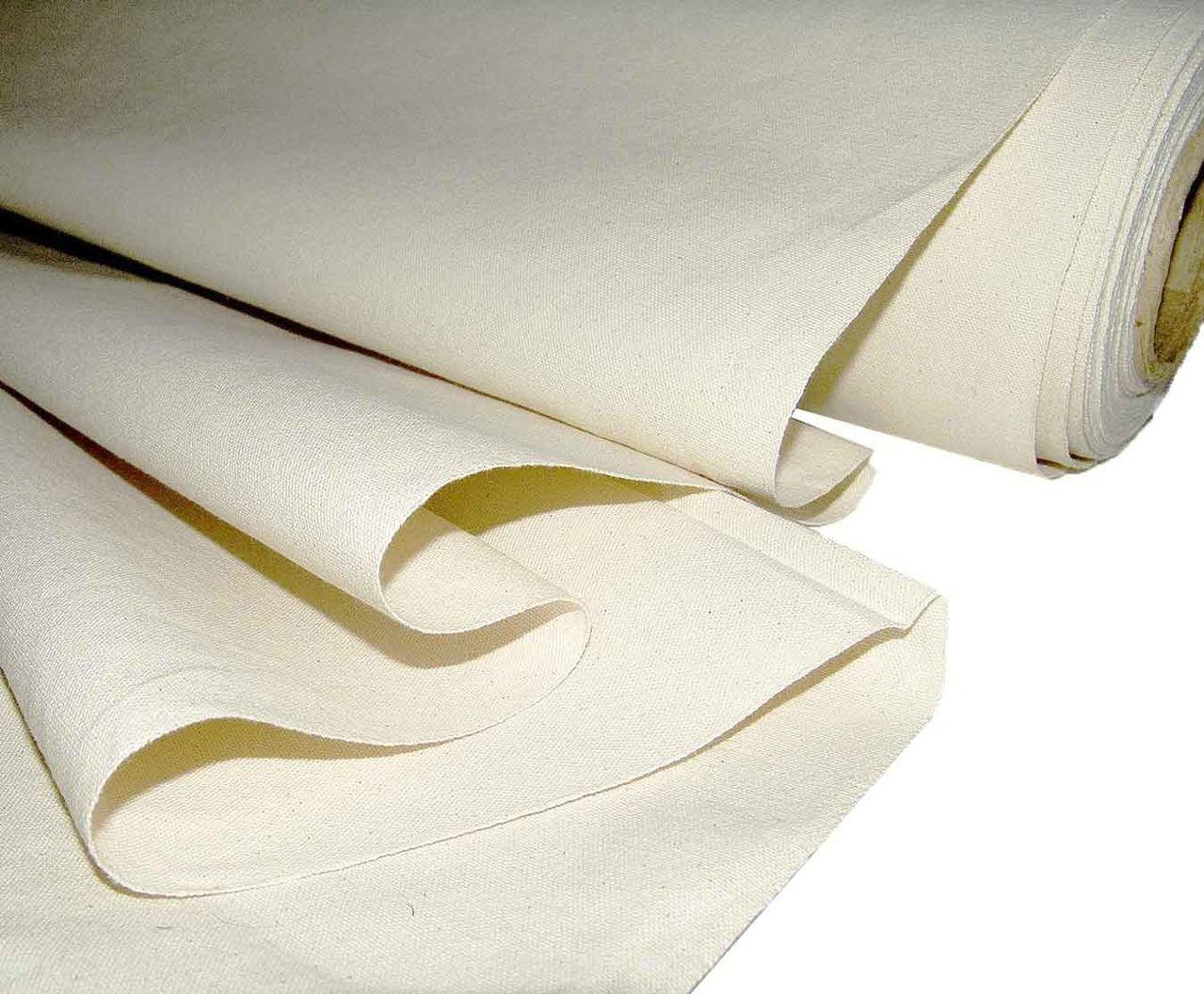 Mybecca Unprimed Cotton Canvas Fabric 7oz Natural Duck Cloth 63'' Wide, 10 Yards
