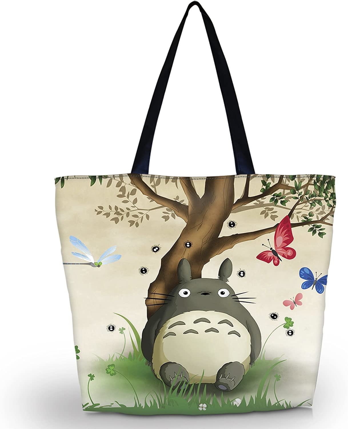Adorable Animal Horse Womens Large Lightweight Tote Bag Shoulder Bag for Gym Hiking Picnic Travel Beach Shopping PU Leather Handbag